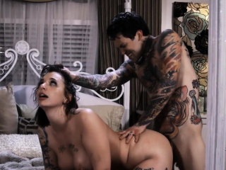 Emo babe gets pussy fucked and anally banged