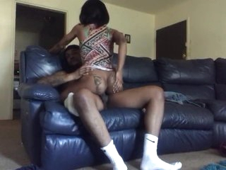 Ebony mom rides me so good