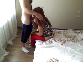 Stepson wanted to fuck a machihu in the ass. Mom and son anal sex at home