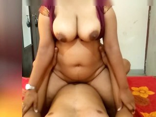 Indian Maroon Girl Riding on Me and Make Me Cum On Her Big Boobs
