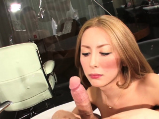 Busty oriental ladyboy anally drilling guy