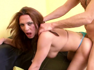 TS Shemale Hooker MILF Fuck Anal by Huge Cock Guy