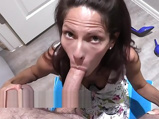 Mom Is Blackmailed Into Sucking Son's Cock