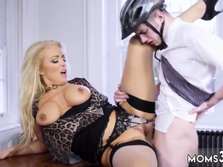 Pierced milf anal first time Having Her Way With A Rookie