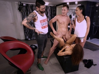 German cuckold Street casting with Jason Steel and brunette