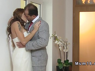 Big tits Milf banging before wedding