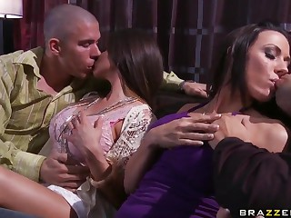 Wife swapping with busty Rachel Roxxx and Rachel Starr