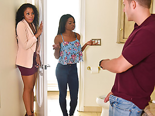 Mya Mays  Jasmyne De Leon in Mother's Interracial Interaction - BadMilfs