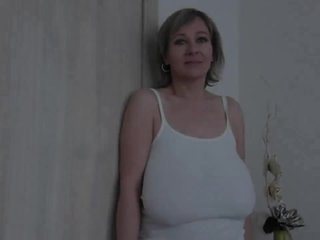Old milf with huge saggy tits