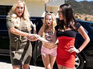 Brandi Love & Scarlett Sage & Dava Foxx in My Mom Does WHAT??, Scene #01 - GirlsWay