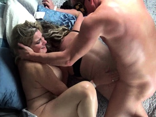 Housewives getting their pussy rammed in steamy foursome