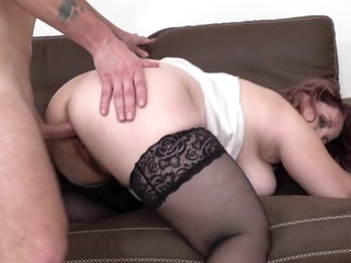 Big Breasted and Curvy Mature Suzie Loves the Cock