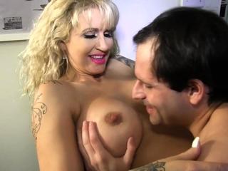 busty blonde milf pornstar