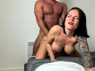 Naughty latina Leona Dulce takes a big cock doggystyle