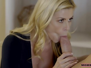 Big Titted Mommy Is Often Fucking Her Step- Son, Because His Hard Dick Feels So Good