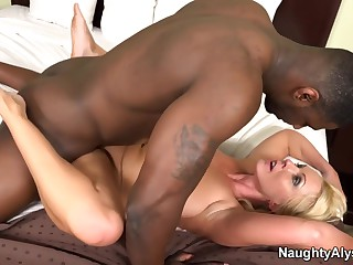hot wife fucked bbc with Naughty Alysha