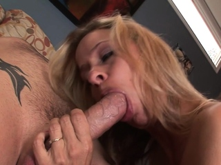 Hot blonde MILF wants a cock in her ass