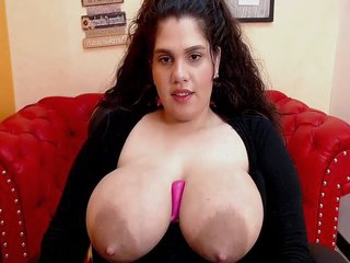 Busty Margaret Shows Off Her Huge Areolas