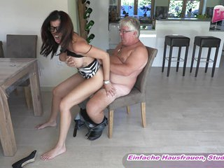 German big tits milf with glasses fuck ugly old guy