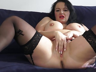 Chubby Sofa Hot Milf Pussy Rubbing Solo