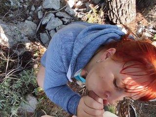 Hard Fucking Redhead Horny Curvy Mommy In The Park