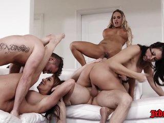 Tegan James, Christie Stevens And Aaliyah Love In Horny Stepmoms In Action