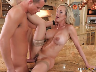 Husband Watches As His Wife Brandi Love Gets Fucked In The Kitchen