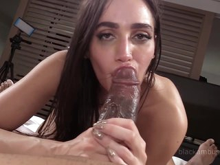 Big Black Dick - Interracial With Slim Leggy Brunette With Small Tits