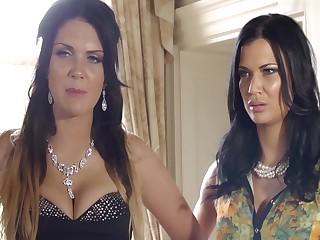 Busty British Babes Emma & Jasmine Humiliate The Clerk