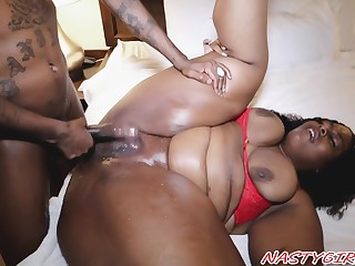 Corpulent Ebony Mommy Crazy Porn Video
