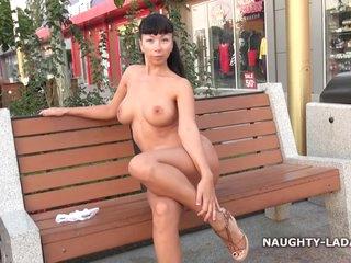 Naughty Naked Russian Milf Lada Walking On The Street
