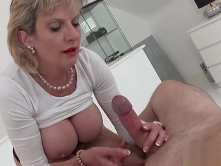 Cheating english milf lady sonia flashes her enormous melons