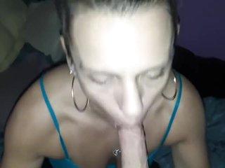Choking on his dick