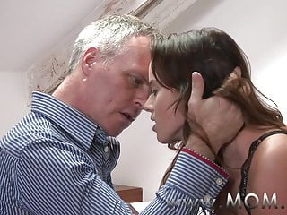 MOM Brunette MILF pleases her man