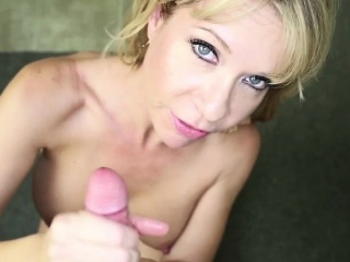 Busty stepmom wanking off young bloke