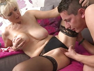 Hot mature mom fucks not her son