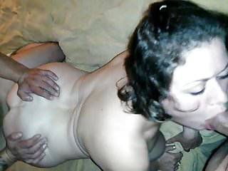 Wife cums double creampied by friend hubby sloppy seconds