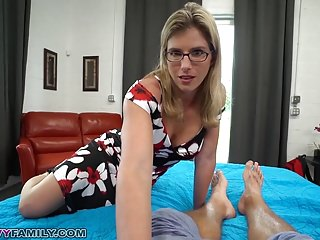 Slutty Mom Cory Chase Gives Step Son a Helping Hand & Pussy